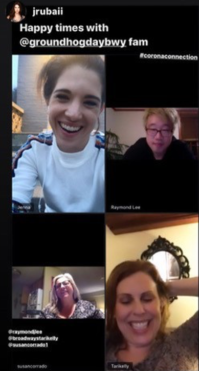 A photo of a video chat with Local 798