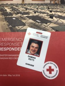 Petti's Red Cross badge